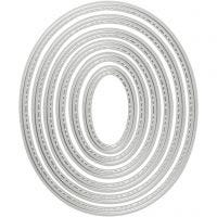 Die Cut and Embossing Folder, oval, size 5x3-12x10 cm, 1 pc