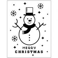 Embossing Folder, snowman, D: 11x14 cm, thickness 2 mm, 1 pc