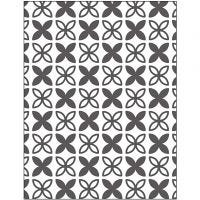 Embossing Folder, leaves, size 11x14 cm, thickness 2 mm, 1 pc