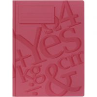 working folder, A4, red, 100 pc/ 1 pack