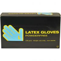 Latex Gloves, size large , 100 pc/ 1 pack