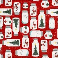 Gift wrap, Christmas in a jar , W: 57 cm, 80 g, 150 m/ 1 roll