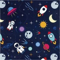 Gift wrap, Astronauts in space, W: 57 cm, 80 g, 150 m/ 1 roll