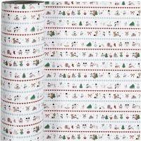 Gift wrap, Arctic fun, W: 57 cm, 80 g, 150 m/ 1 roll