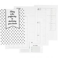 Calender pages, size 142x210 mm, 7 , 120 g, white, 1 pc/ 1 pack