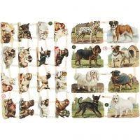Vintage Die-Cuts, dogs, 16,5x23,5 cm, 2 sheet/ 1 pack