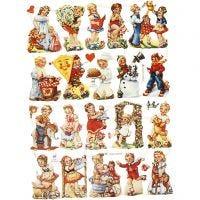 Vintage Die-Cuts, nostalgic children, 16,5x23,5 cm, 2 sheet/ 1 pack