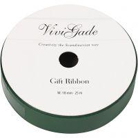 Curling Ribbon, W: 18 mm, matt, green, 25 m/ 1 roll