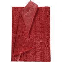 Tissue Paper, 50x70 cm, 17 g, red, 6 sheet/ 1 pack