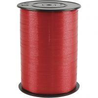 Curling Ribbon, W: 10 mm, glossy, red, 250 m/ 1 roll