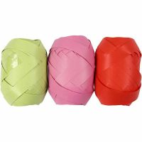 Curling Ribbon, W: 10 mm, lime green, pink, red, 3x10 m/ 1 pack