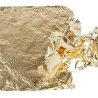 Imitation Metal Leaf, 16x16 cm, gold, 25 sheet/ 1 pack, 0,625 m2