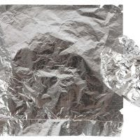 Imitation Metal Leaf, 16x16 cm, silver, 25 sheet/ 1 pack, 0,625 m2