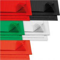 Honeycomb paper, 28x17,8 cm, white, 5x8 sheet/ 1 pack