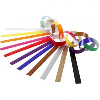 Paper Chains, L: 16 cm, W: 15 mm, assorted colours, 400 pc/ 1 pack