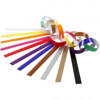 Paper Chains, L: 16 cm, W: 15 mm, assorted colours, 2400 pc/ 1 pack