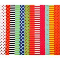 Glazed Paper, Pattern, 24x32 cm, 80 g, assorted colours, 50 ass sheets/ 1 pack