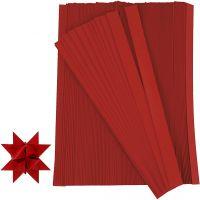 Paper Star Strips, L: 45 cm, W: 10 mm, D: 4,5 cm, red, 500 strips/ 1 pack