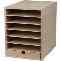 Paper Storage Unit, H: 31,5 cm, depth 32 cm, W: 24,3 cm, A4, 1 pc