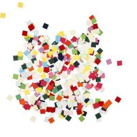 Card Mosaics, square, size 10x10 mm, 180 g/ 1 pack