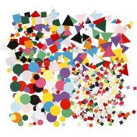 Card Mosaics, size 10+15+20 mm, assorted colours, 8x180 g/ 1 pack