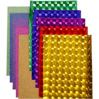 Deco Foil - Assortment, W: 35 cm, thickness 30+110 my, assorted colours, 10x2 m/ 1 pack