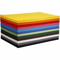 Coloured Card, A2, 420x594 mm, 180 g, assorted colours, 12x100 sheet/ 1 pack