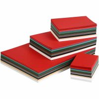 Christmas Card, A3,A4,A5,A6, 180 g, assorted colours, 1500 ass sheets/ 1 pack