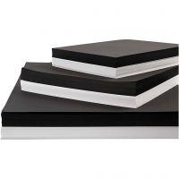 Card, A2,A3,A4, 200+250 g, black, white, 600 ass sheets/ 1 pack
