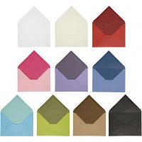 Envelope, envelope size 11,5x16 cm, Content may vary , 100 g, assorted colours, 30 pack/ 1 pack