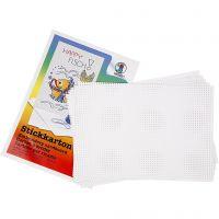 Cross Stitch Card, size 23x33 cm, 3x3 holes per. cm, white, 10 sheet/ 1 pack