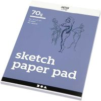 Drawing Paper Pad, A5, 148x210 mm, 70 g, white, 70 sheet/ 1 pack