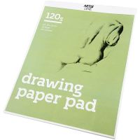 Drawing Paper Pad, A3, 297x420 mm, 120 g, white, 30 sheet/ 1 pack