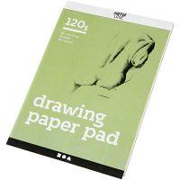 Drawing Paper Pad, A5, 148x210 mm, 120 g, white, 30 sheet/ 1 pc