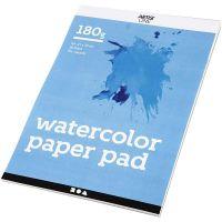Watercolour Paper Pad, A4, 210x297 mm, 180 g, white, 20 sheet/ 1 pc