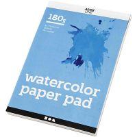 Watercolour Paper Pad, A5, 148x210 mm, 180 g, white, 20 sheet/ 1 pc
