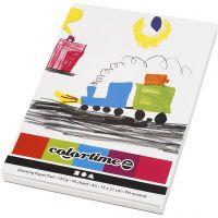 Drawing Paper Pad, A5, 148x210 mm, 120 g, white, 50 sheet/ 1 pc