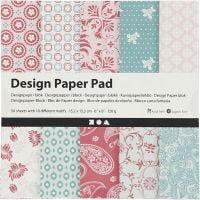 Design Paper Pad, 15,2x15,2 cm, 120 g, rose, 50 sheet/ 1 pack