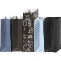 Paper Bag, H: 21 cm, size 6x9 cm, 80 g, 5x10 pack/ 1 pack