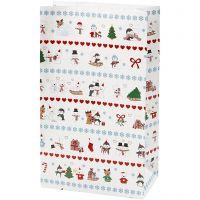 Paper Bag, polar fun, H: 21 cm, size 6x12 cm, 8 pc/ 1 pack