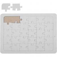 Jigsaw Puzzle, size 15x21 cm, white, 1 pc