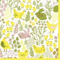 Table Napkins, easter, size 33x33 cm, 20 pc/ 1 pack