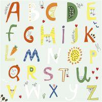 Table Napkins, Alphabet, size 33x33 cm, 20 pc/ 1 pack