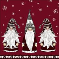 Table Napkins, Gnomes, size 33x33 cm, 20 pc/ 1 pack