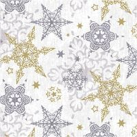 Table Napkins, Delicate stars silver, size 33x33 cm, 20 pc/ 1 pack
