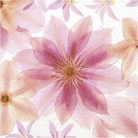 Table Napkins, Pressed flowers, size 33x33 cm, 20 pc/ 1 pack