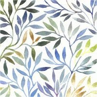 Table Napkins, Willow leaves, size 33x33 cm, 20 pc/ 1 pack