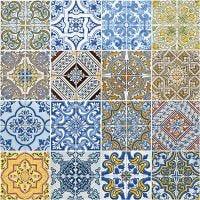 Table Napkins, Tiles, size 33x33 cm, 20 pc/ 1 pack
