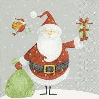 Table Napkins, Santa with gift sack, size 33x33 cm, 20 pc/ 1 pack