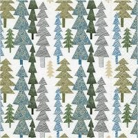 Table Napkins, Modern Christmas trees, size 33x33 cm, 20 pc/ 1 pack